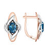 Ohrhänger mit London Blue Topas und Zirkonia