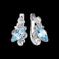 Ohrhänger mit blauem Topas - Silber 925