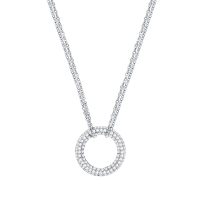 Collier with zirconia