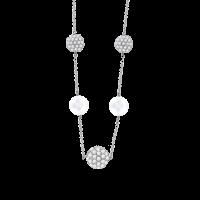 Collier mit Perle und Zirkonia