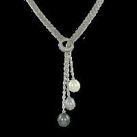 Collier mit Perlen und Zirkonia