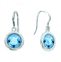 Earrings with blue Crystal