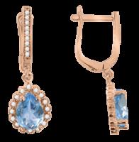 Ohrhänger mit blue Topas und Zirkonia