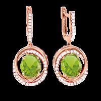 Ohrhänger mit Amethyst grün und Zirkonia