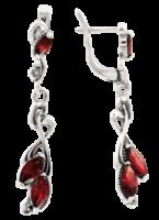 Ohrhänger mit Granat
