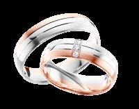 обручальное кольцо из красного золота, палладиум и серебро