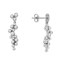 Earrings with zirconia