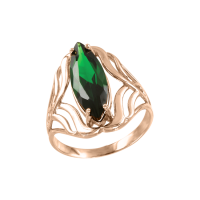 Damenring mit grüner Zirkonia