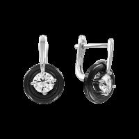 Ohrhänger mit Zirkonia und Keramik