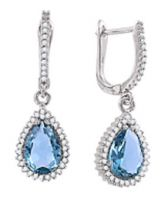 Earrings with Topaz and zirconia
