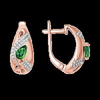 Ohrhänger mit Smaragd und Brillanten