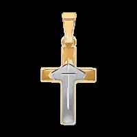 Kreuz aus Gelb und Weißgold