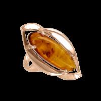 женское кольцо с Янтарём