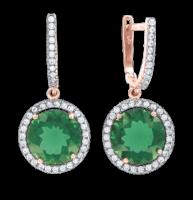 Ohrringe mit Smaragd und Zirkonia