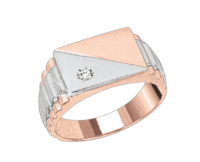 men's ring with Brillant