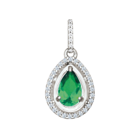 pendant with zirconia