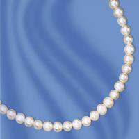 Perlenkette mit Silber Verschluss