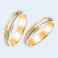 wedding ring with Brillant