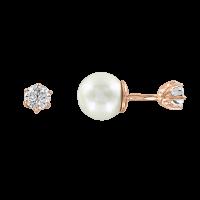 Ohrringe mit Perle und Zirkonia