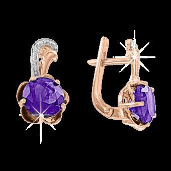 Ohrhänger mit Amethyst und Zirkonia