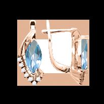 Ohrhänger mit Topas und Zirkonia