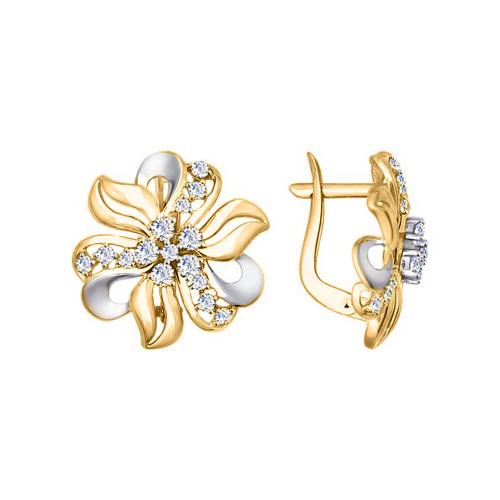 Ohrhänger Blumen mit Zirkonia