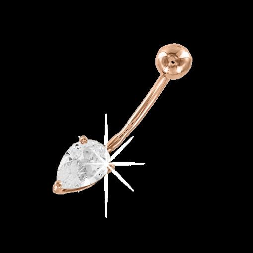 Bauchpiercing mit Zirkonia
