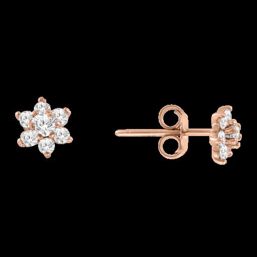 stud earrings with zirconia