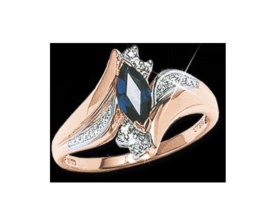 Damenring mit Saphir und Diamant