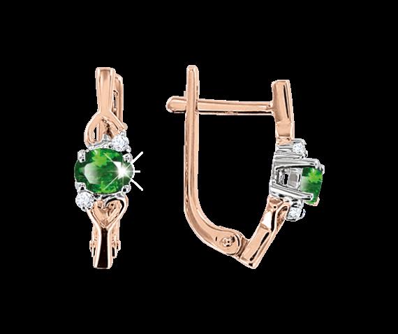 Ohrhänger mit Smaragd und Brillant
