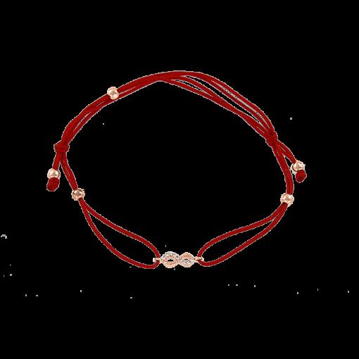 """""""Unendlichkeit"""" Armband Gold - Rot"""