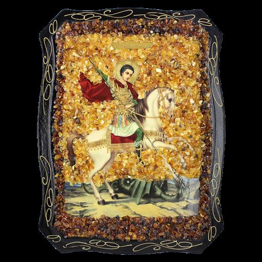 Russische Orthodoxe Ikone von George der Siegreiche
