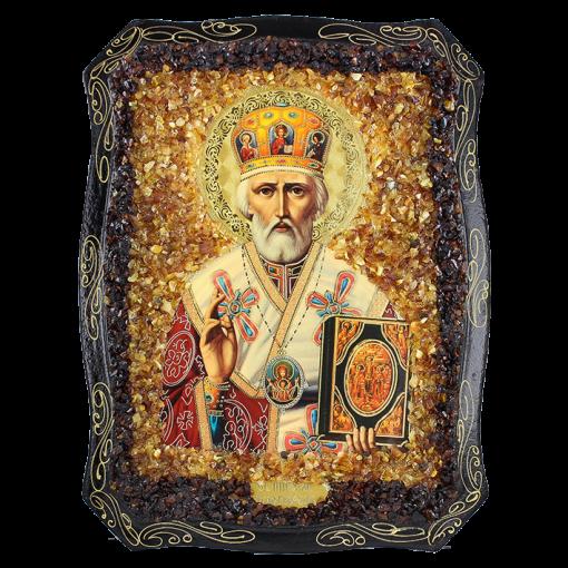 Orthodoxe Ikone dem heiligen Nikolaj dem Wundertäter
