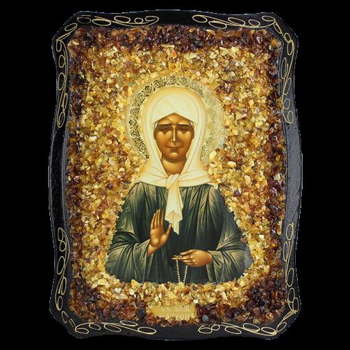 Orthodoxe Ikone der seligen Matrone von Moskau