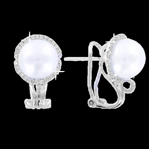 Ohrhänger mit Perle und Brillant