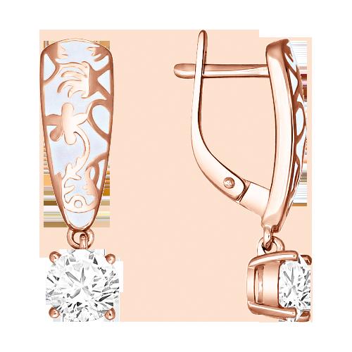 Ohrhänger mit Emaille und Zirkonia