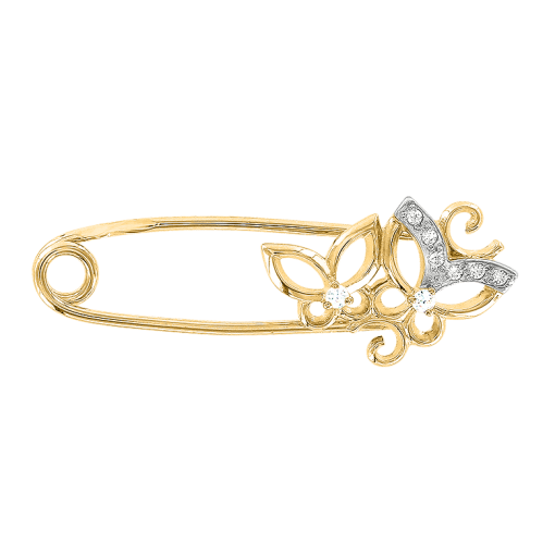Gold Brosche als Anstecknadel