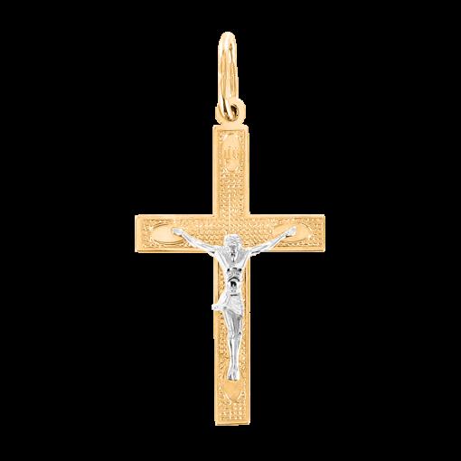 Gelb-/Weißgold Kreuz