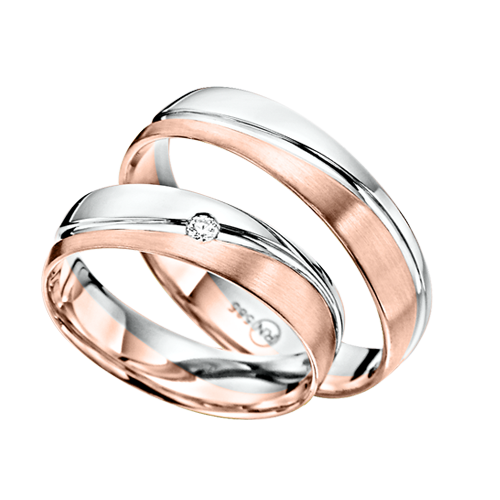 красное золото обручальное кольцо