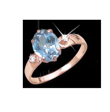 Damenring Rose gold mit Zirkonia кольцо Русское золото в германии Zoloto 585